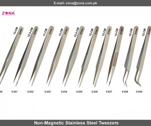 Non-Magnetic Stainless Steel Tweezers
