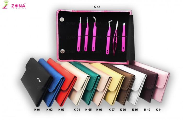 6-Pcs Matching Colors Eyelash Tweezers Kits