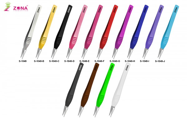 Professional Eyelash Extension Tweezers With Fine Serrated Points