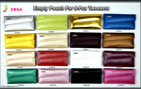 Empty Pouch For 6-Pcs Tweezers