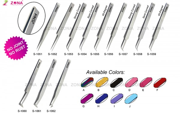 Jointless Eyelash Extension Tweezers