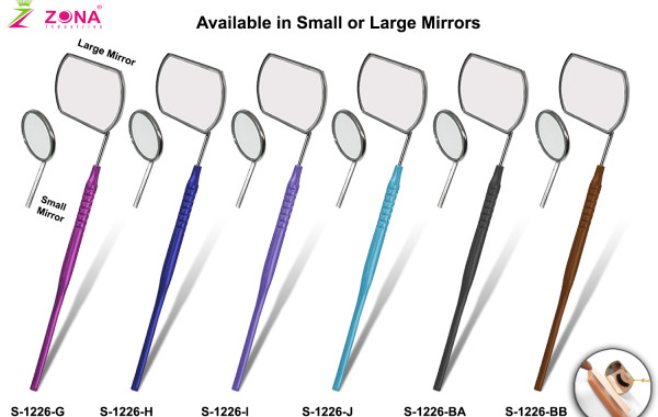 Large Eyelash Extension Mirrors With Hollow Handle