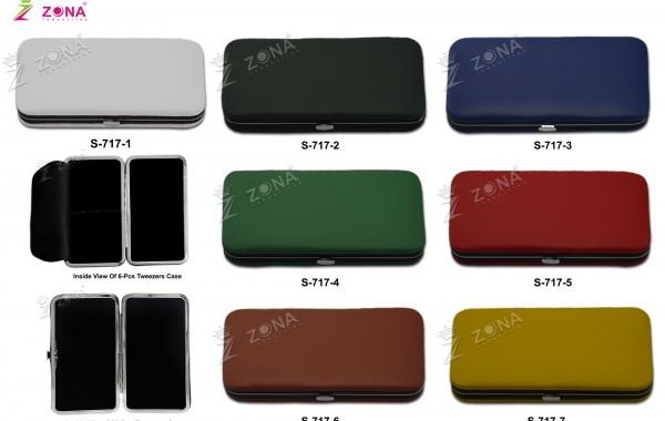 S-717 (Plain / Soft Skin) Magnetic Case For 3-Pcs & 6-Pcs Tweezers