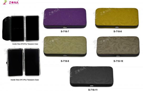 S-718-2 (Floral Print) Magnetic Case For 3Pcs & 6-Pcs Eyelash Tweezers