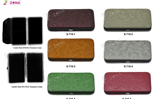 S-718 (Floral Print) Magnetic Case For 3Pcs & 6-Pcs Eyelash Tweezers