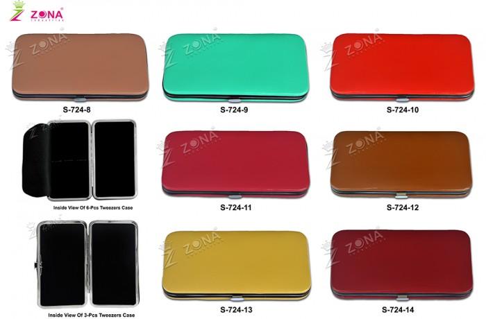 S-724-2 Plain Soft Skin Magnetic Case For 3-Pcs & 6-Pcs Eyelash Tweezers